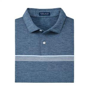 Peter Millar Engineered Stripe Jersey – Blue Agate