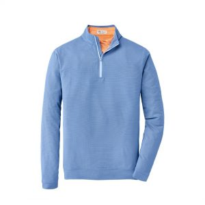 Peter Millar Perth Stretch Basketweave 1/4 Zip – Cottage Blue