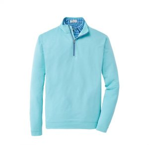 Peter Millar Stretch Melange 1/4 Zip – Tropical Blue