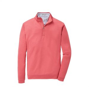 Peter Millar Perth Stretch Melange 1/4 Zip – Red Ginger
