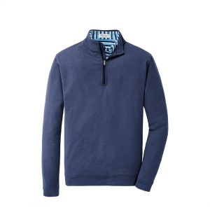 Peter Millar Perth Stretch Melange 1/4 Zip – Navy