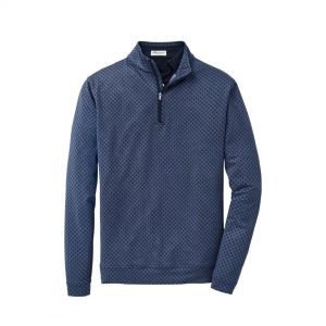 Peter Millar Skull Perth Performance Quarter-Zip – Navy