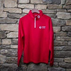 British Masters FJ Mens Half Zip Red