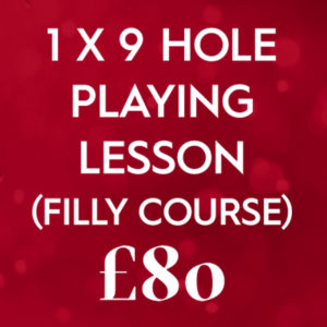 1 X 9 Hole Playing Lesson Filly Course