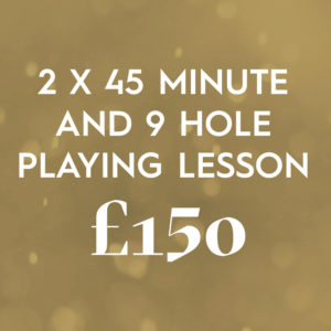 2 X 45 Minute And 9 Hole Playing Lesson