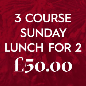 3 Course Sunday Lunch For 2